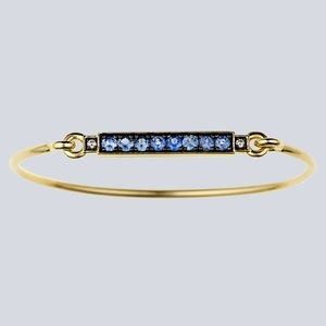 Jemma Wynne 18K Gold Sapphire Diamond Bracelet